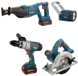 Bosch CLPK40-180 18V 4-tool Litheon� Combo Kit